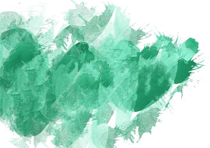 Colorful hand painted watercolor background. Green.