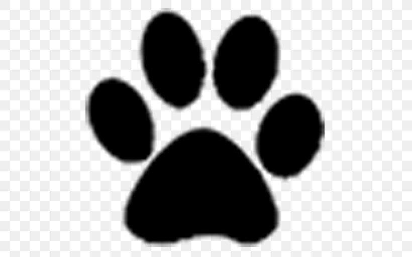 Dog Paw Tiger Clip Art, PNG, 512x512px, Dog, Black, Black.