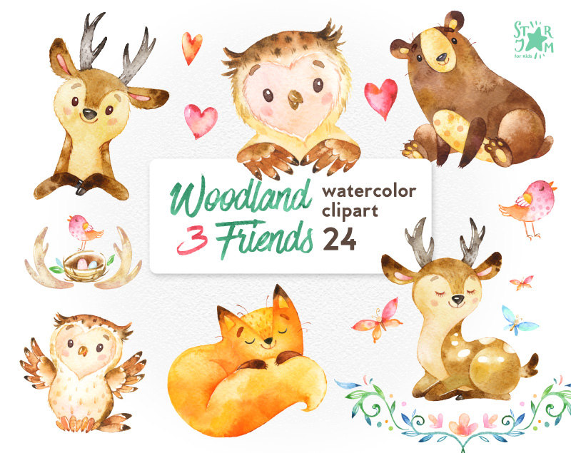 2402 Woodland free clipart.