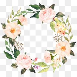 Floral Wreath Clipart Transparent Background.