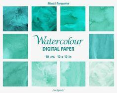 Watercolor Digital Paper.