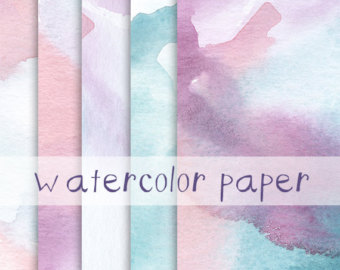 Watercolor Paper Image Pack Clip Art by DigitalPressCreation.