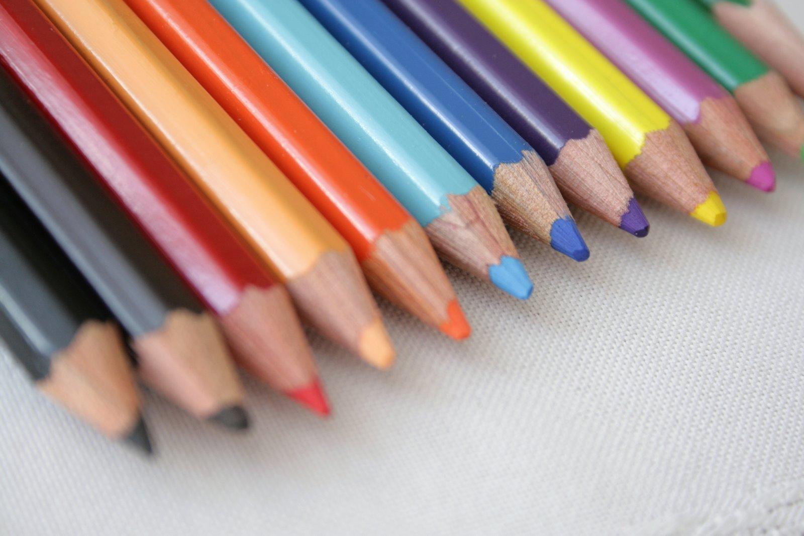 Dover Clip Art + Watercolor Pencils = Work of Art.