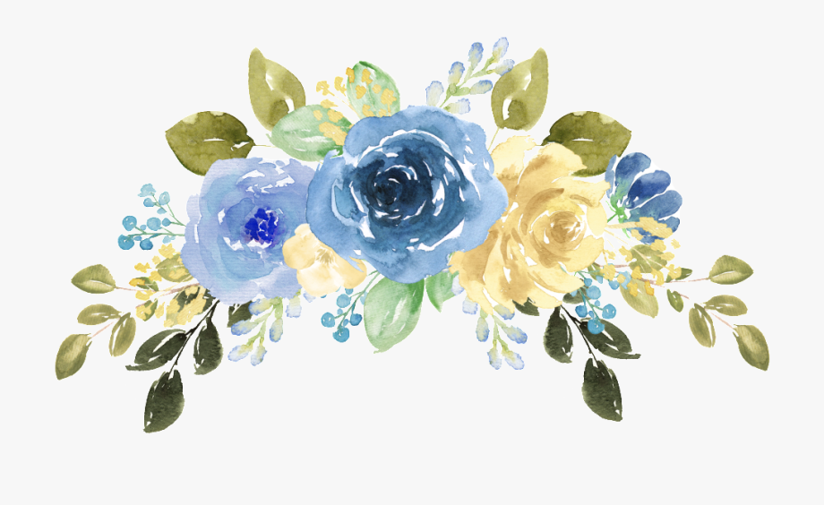 Blue Watercolor Flowers Png , Transparent Cartoon, Free.