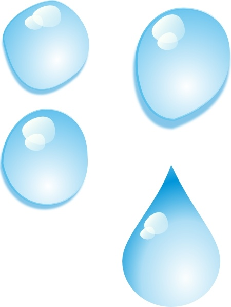 Set Of Water Drops clip art Free vector in Open office drawing svg.