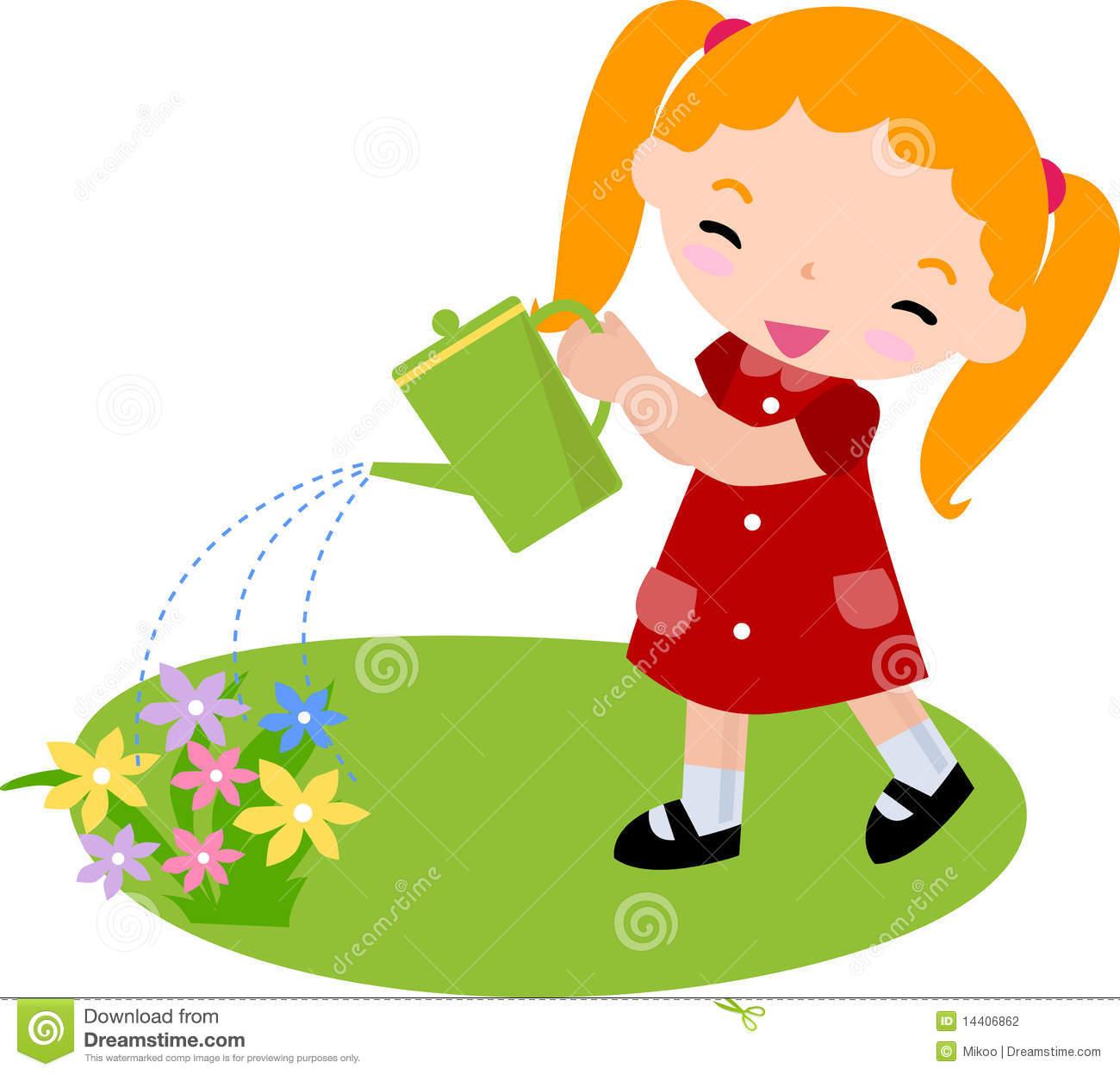 Similiar Cartoon Watering Flowers Keywords.