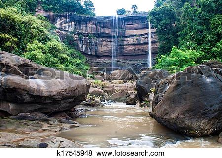 Pictures of Tat Suong waterfall in Laos k17545948.