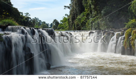 Waterfall Laos Stock Photos, Royalty.