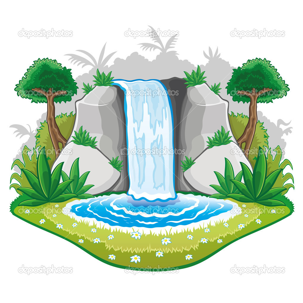 Waterfall clipart » Clipart Station.