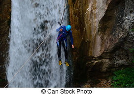 Pictures of rappelling.