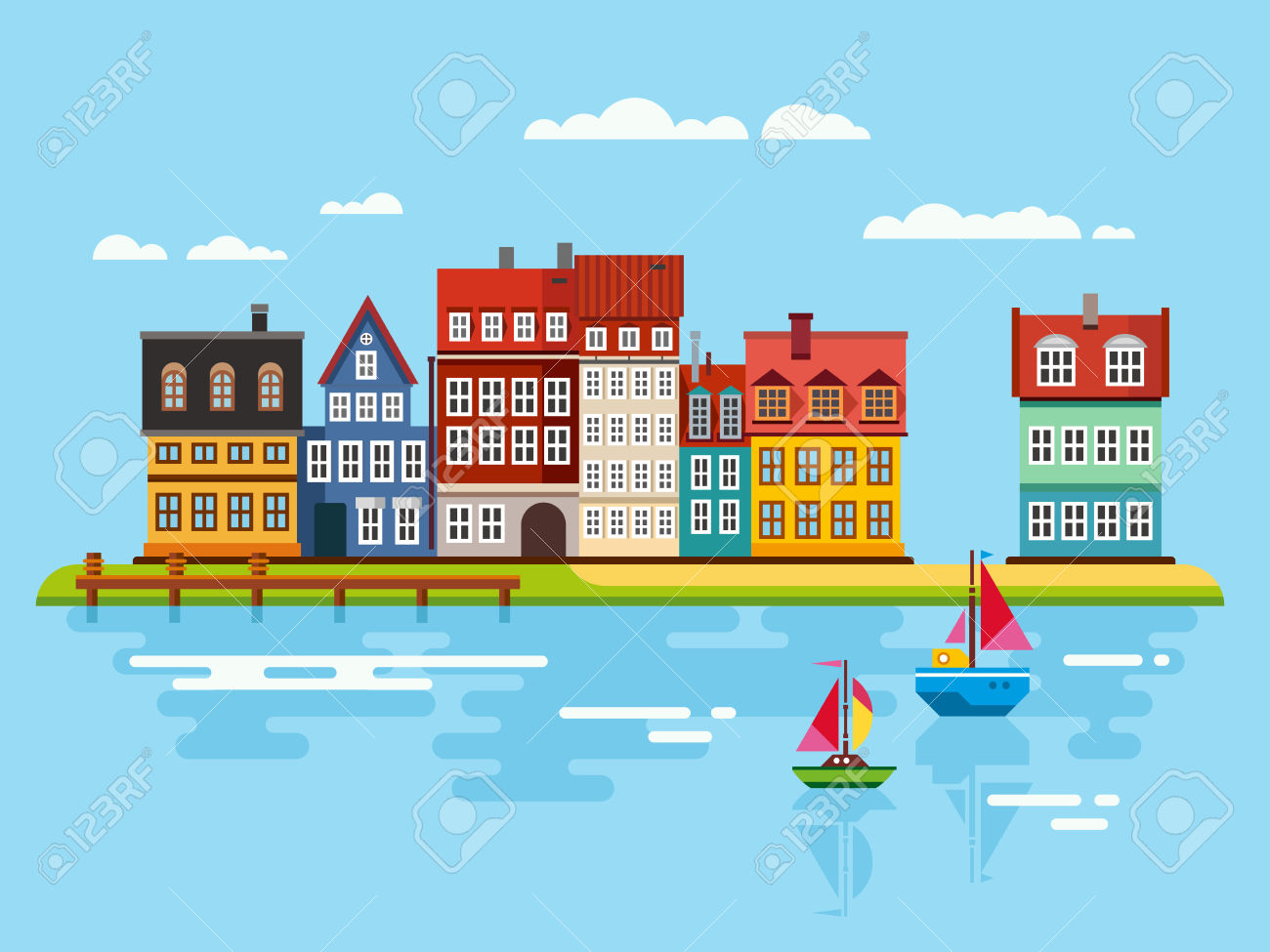 Waterfront Clipart.