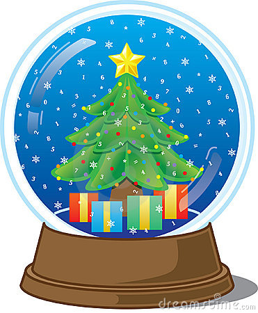 Christmas Water Globe Clipart.