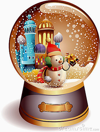 Classy Snowman Snow Globe Royalty Free Stock Images.