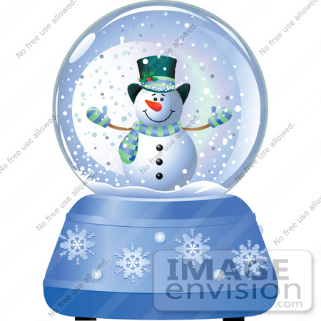 Christmas Water Globe Clipart.