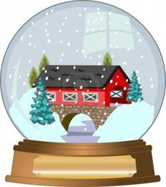Snow globe clipart with owl trapped.