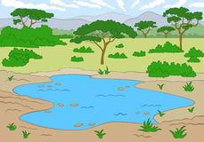 Waterhole Stock Illustrations.