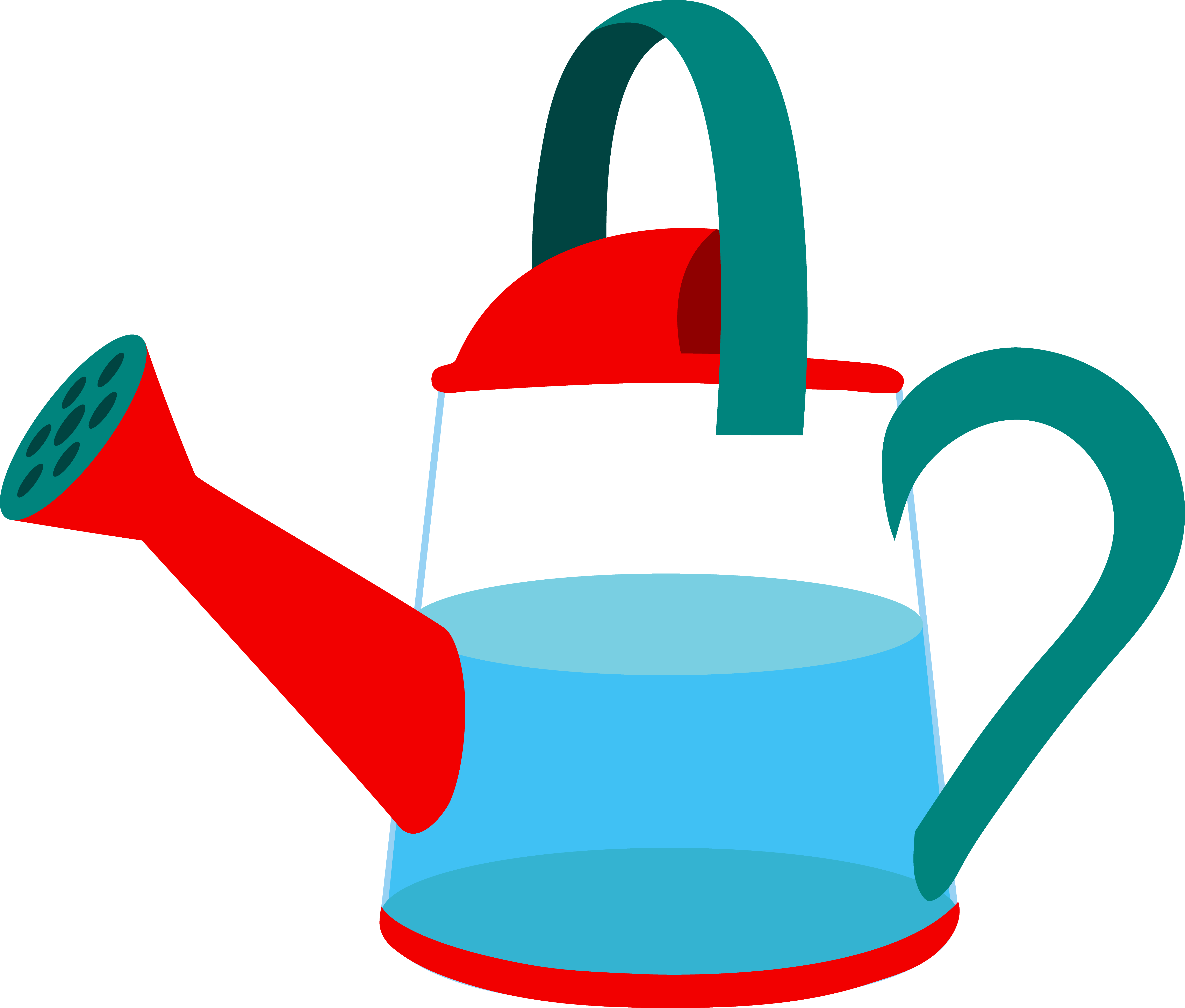 Half Full Watering Can.