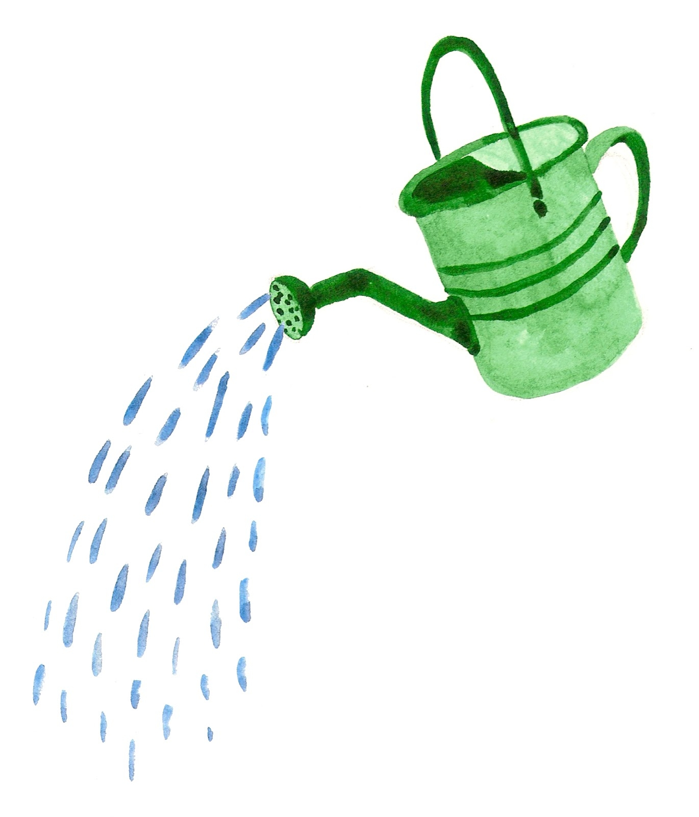 Watering Can Pouring Water Clip Art.