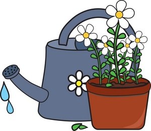 Flowers Watering Can Clipart.