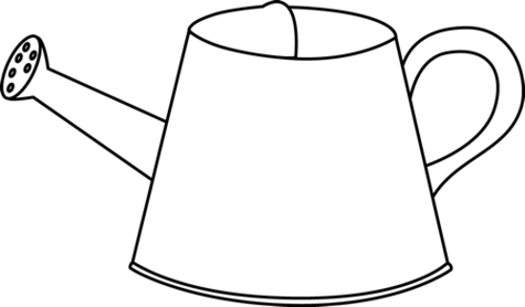 Watering can clipart black and white clipartfest.