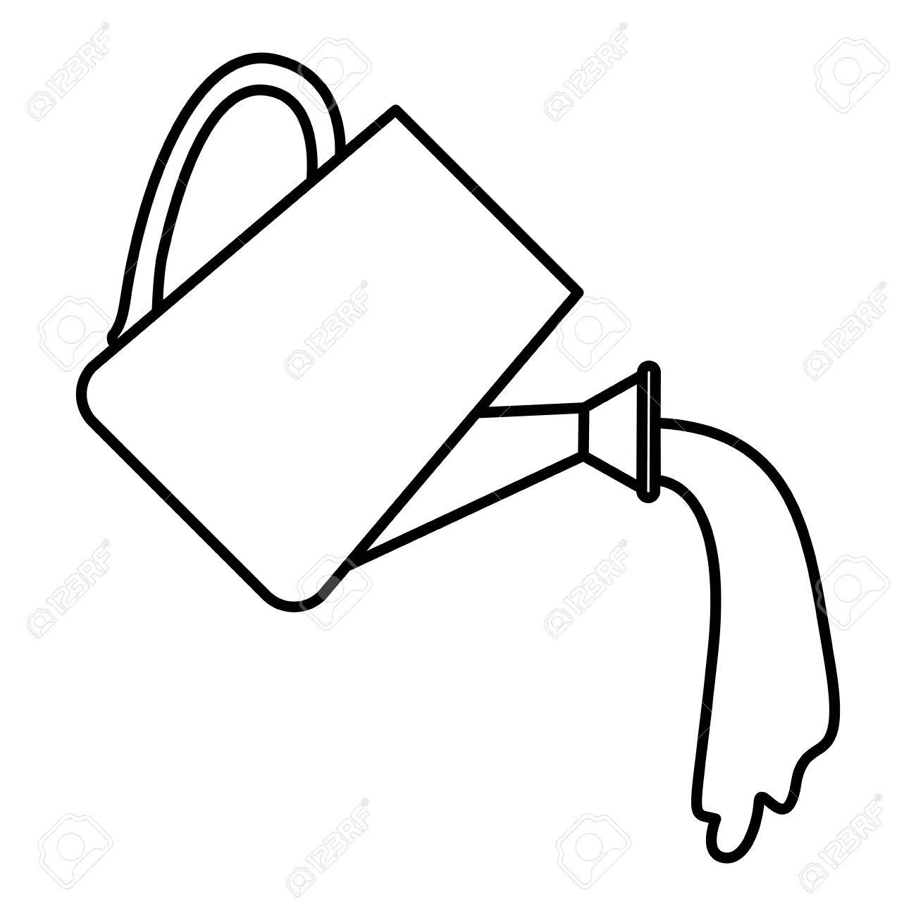 Watering Can Clipart Black And White (100+ images in.