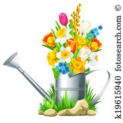 Watering can Clip Art Vector Graphics. 9,244 watering can EPS.