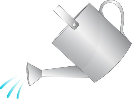 Watering Can Pouring Water Clipart.
