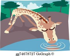 Watering Hole Clip Art.