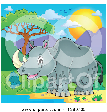 Watering hole clipart #14