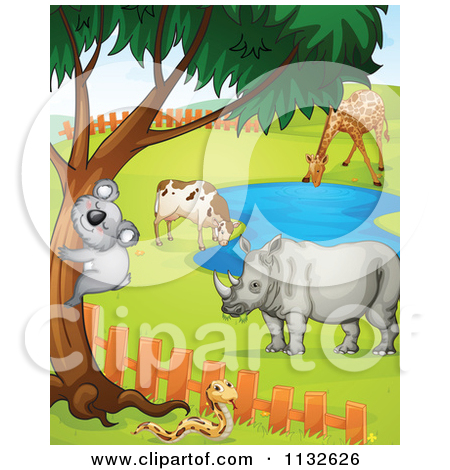 Watering hole clipart #13