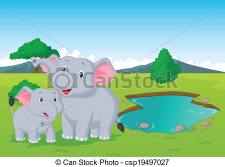 Watering hole Clipart Vector Graphics. 563 Watering hole EPS clip.