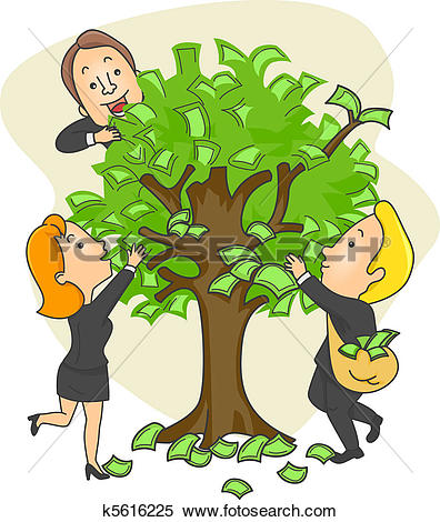Stock Illustration of Money Tree k5616225.