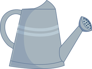 Watering can plant clipart.