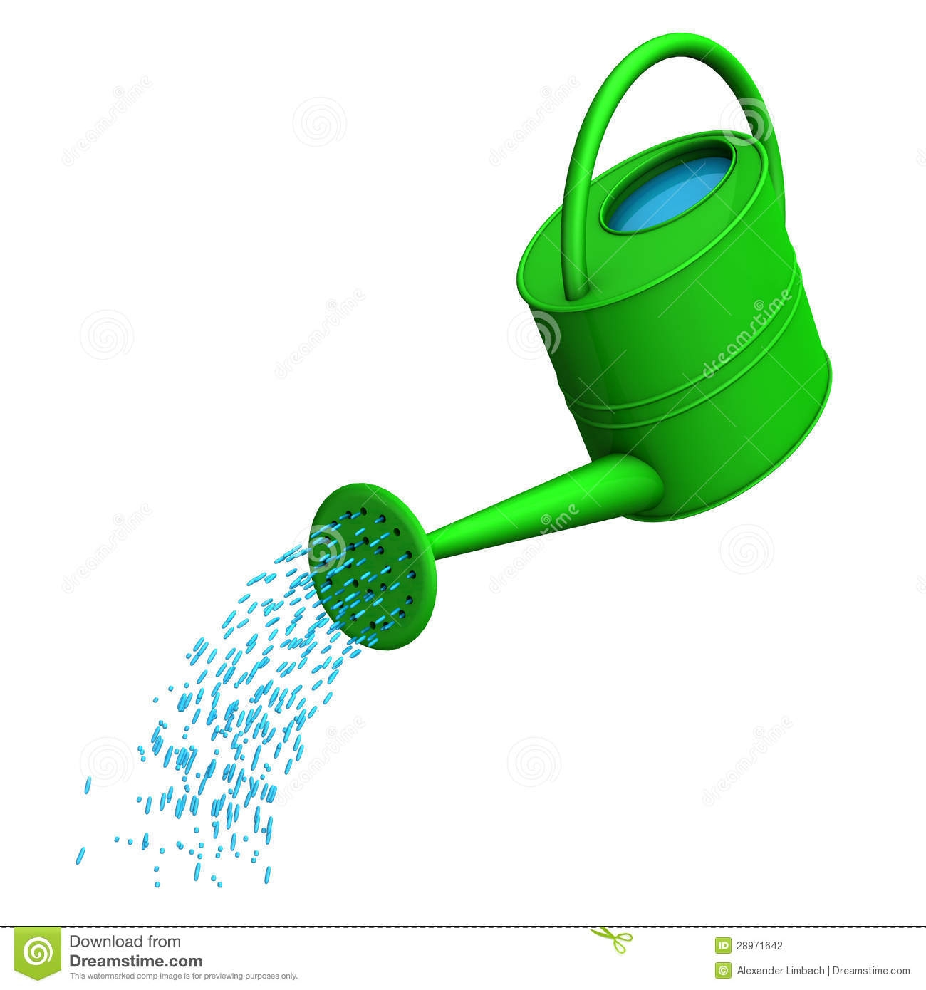 Watering water clipart.
