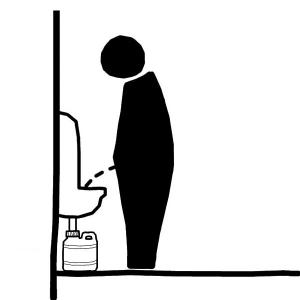 Waterless Urinals and Flush Urinals.