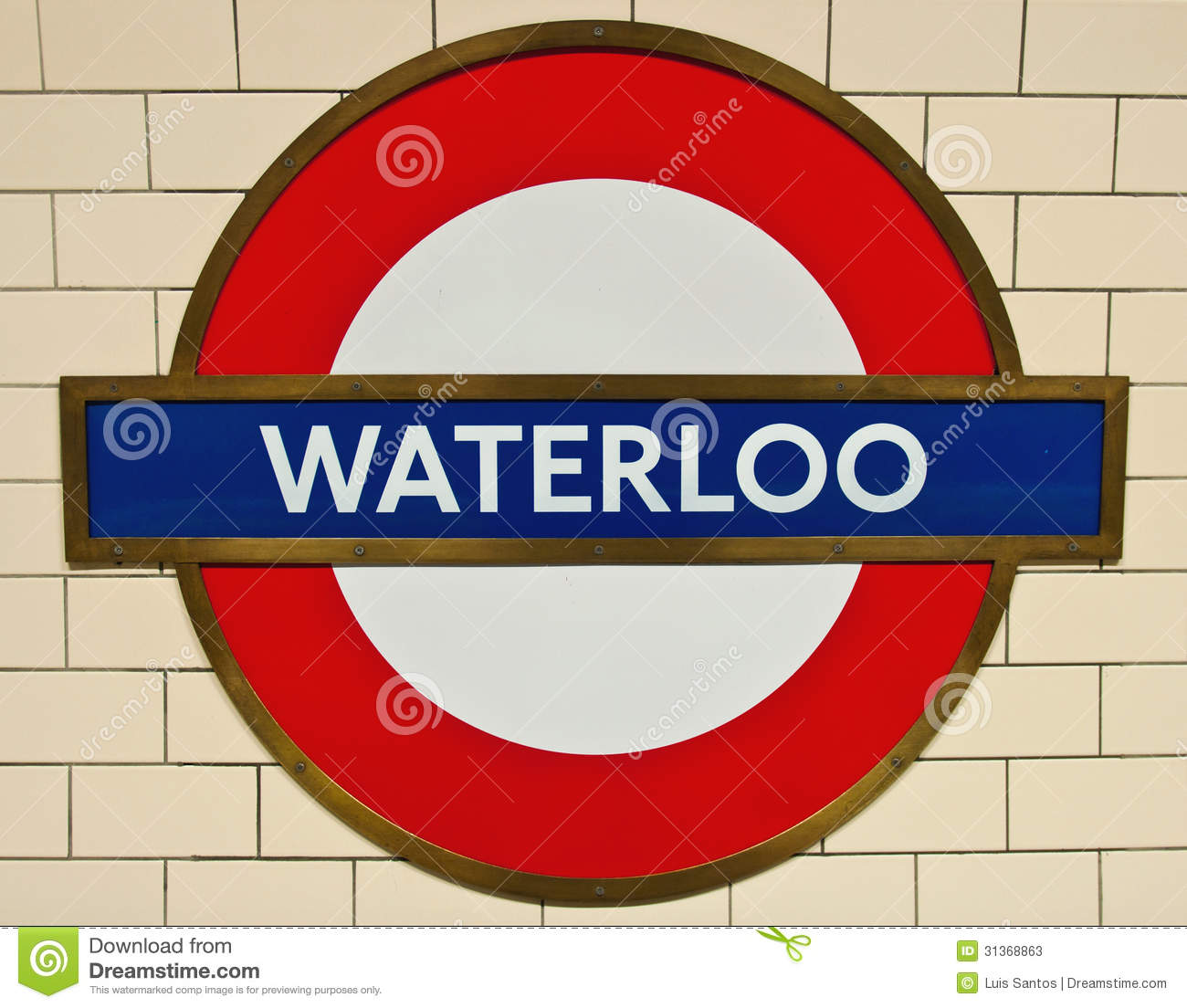 Waterloo Underground Editorial Stock Photo.
