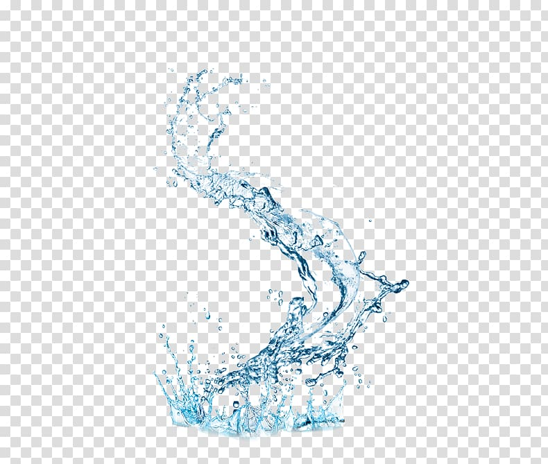 Water splash illustration, Waterproofing Drop, Dynamic blue.