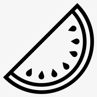 Free Watermelon Black And White Clip Art with No Background.