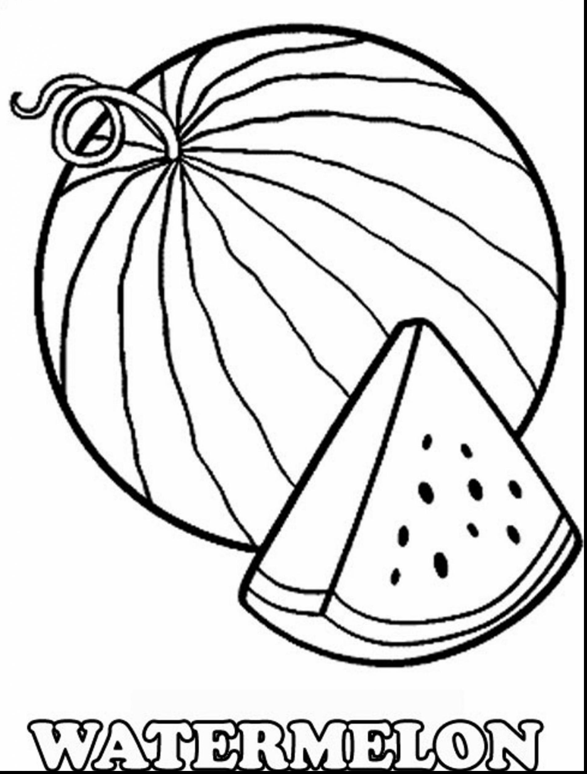 Watermelon clipart black and white Elegant Watermelon.