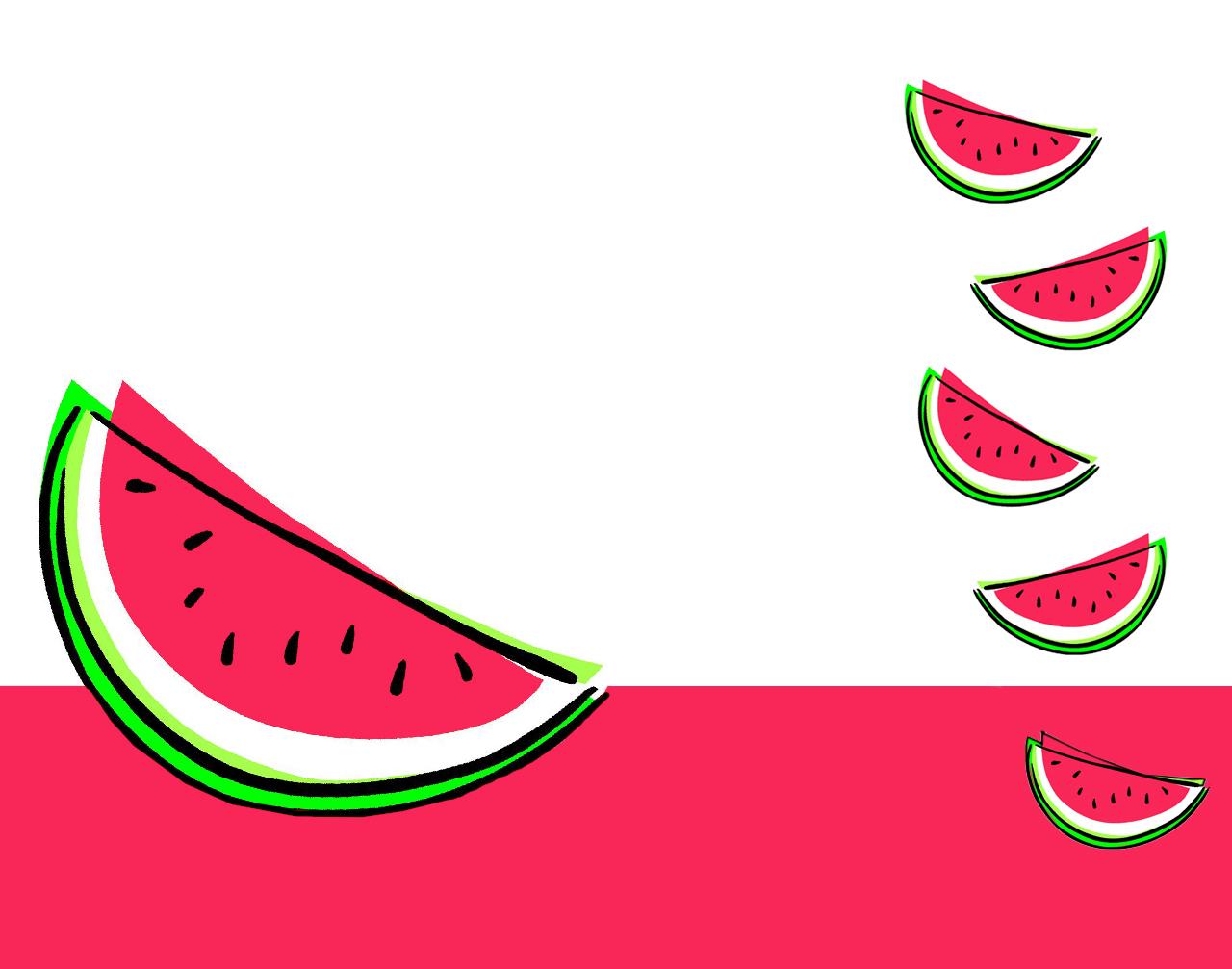 Watermelon Clipart Background.