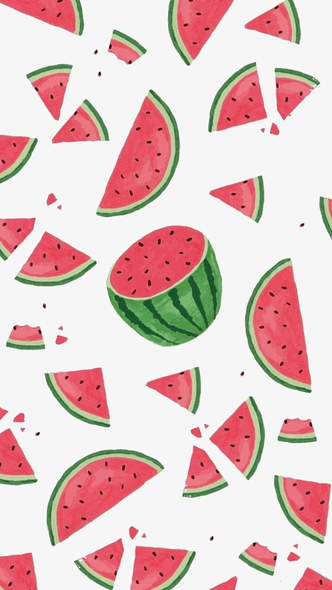Watermelon background cartoon background PNG clipart.