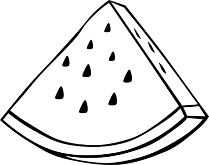 Watermelon Clipart Black And White.