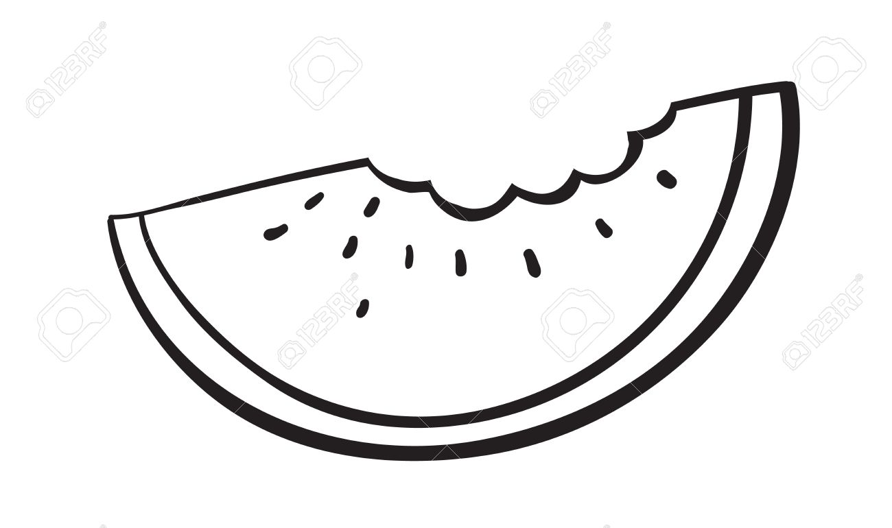 Watermelon Seed Clipart Black And White.