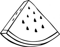 Clipart Of Watermelon Black And White.