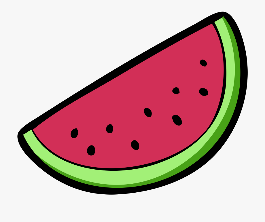 Water Melon Clipart Black And White.