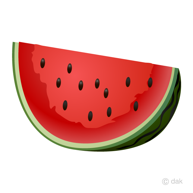 Cut Watermelon Clipart Free Picture|Illustoon.