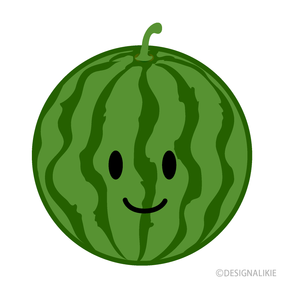 Free Cute Watermelon Clipart Image|Illustoon.
