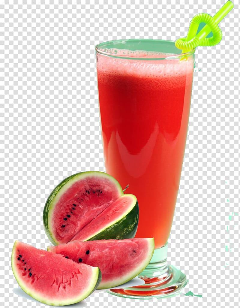 Watermelon shake served on shake glass, Juice Watermelon.
