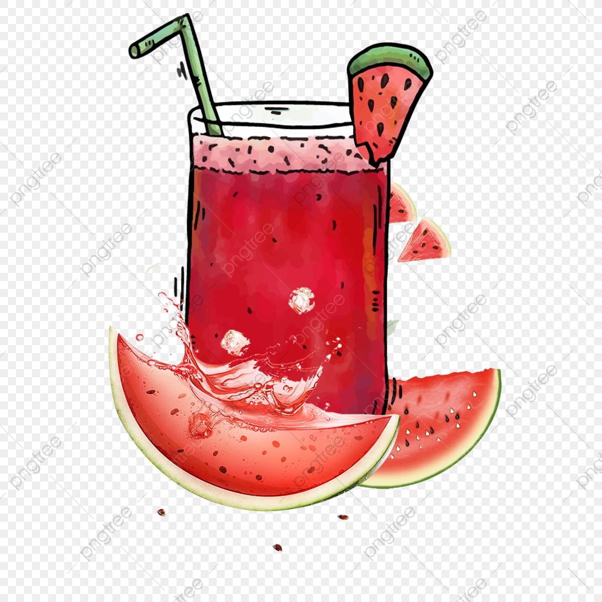 Lemon Watermelon Juice Poster, Afternoon Tea, Menu, Summer.