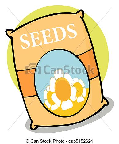 Drawing of Packet of seeds.